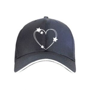 Cap Heart with stars