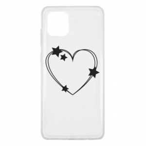 Samsung Note 10 Lite Case Heart with stars