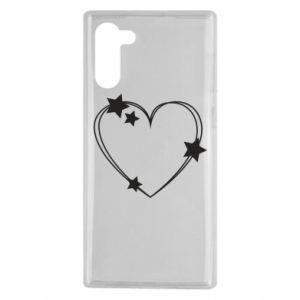 Samsung Note 10 Case Heart with stars