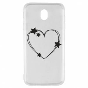 Samsung J7 2017 Case Heart with stars
