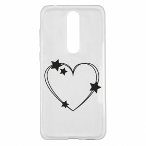 Nokia 5.1 Plus Case Heart with stars