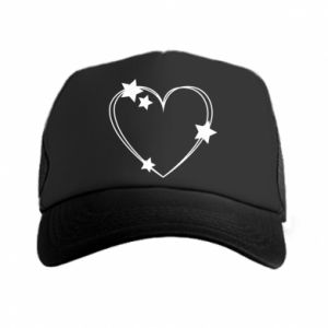Trucker hat Heart with stars