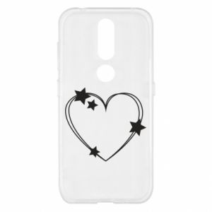 Nokia 4.2 Case Heart with stars