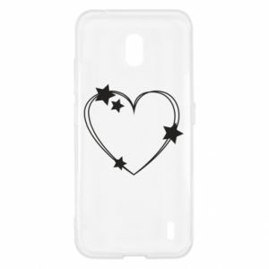 Nokia 2.2 Case Heart with stars