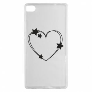 Huawei P8 Case Heart with stars