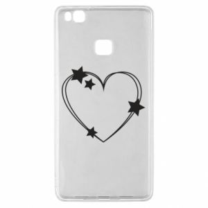 Huawei P9 Lite Case Heart with stars
