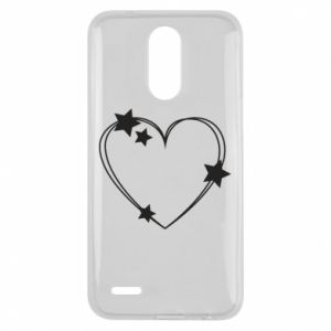 Lg K10 2017 Case Heart with stars