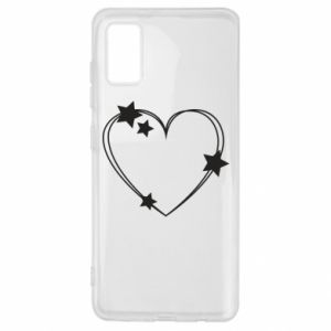 Samsung A41 Case Heart with stars