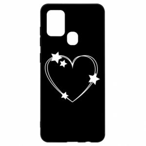 Samsung A21s Case Heart with stars