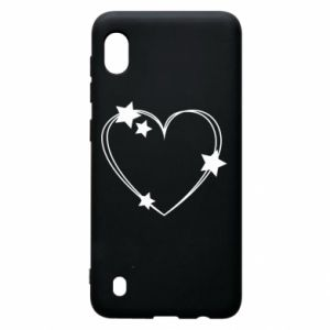 Samsung A10 Case Heart with stars
