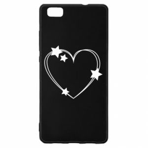 Huawei P8 Lite Case Heart with stars