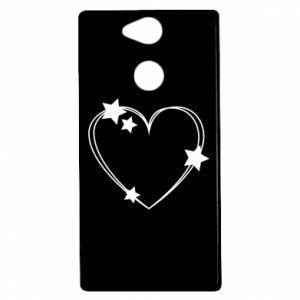 Etui na Sony Xperia XA2 Serce z gwiazdami