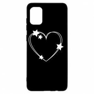 Etui na Samsung A31 Serce z gwiazdami