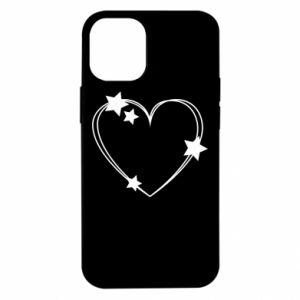 Etui na iPhone 12 Mini Serce z gwiazdami