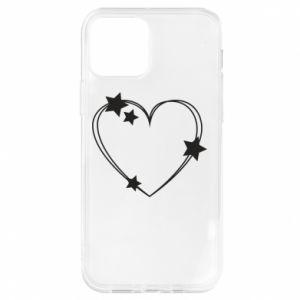 Etui na iPhone 12/12 Pro Serce z gwiazdami