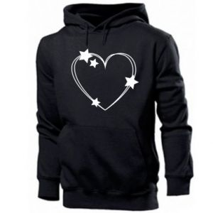 Men's hoodie Heart with stars