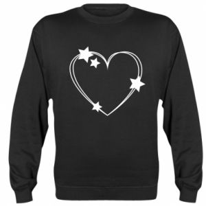 Sweatshirt Heart with stars