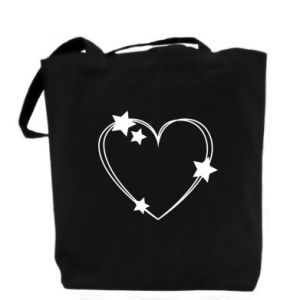 Bag Heart with stars