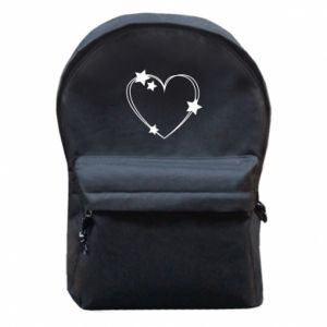 Backpack with front pocket Heart with stars