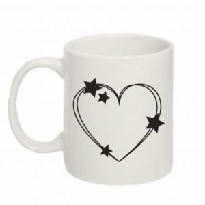 Mug 330ml Heart with stars