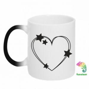 Kubek-magiczny Serce z gwiazdami