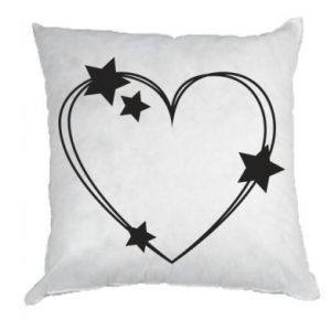 Pillow Heart with stars