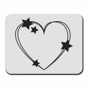 Mouse pad Heart with stars
