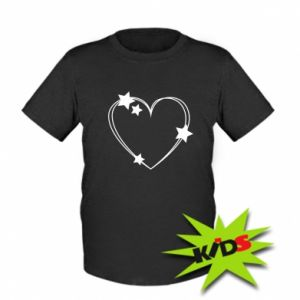 Kids T-shirt Heart with stars