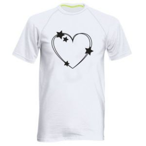 Men's sports t-shirt Heart with stars