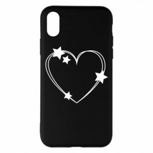 iPhone X/Xs Case Heart with stars