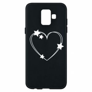 Samsung A6 2018 Case Heart with stars