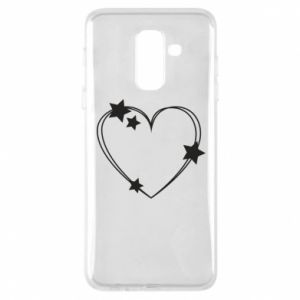 Samsung A6+ 2018 Case Heart with stars