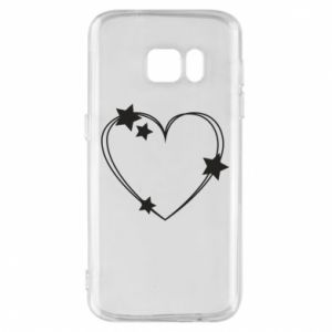 Samsung S7 Case Heart with stars