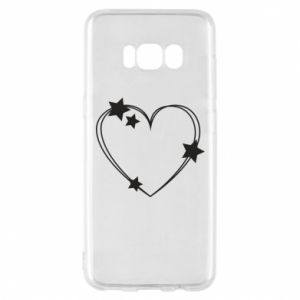 Samsung S8 Case Heart with stars