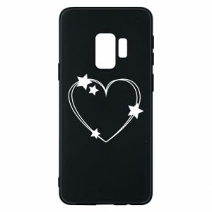 Samsung S9 Case Heart with stars