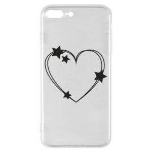 iPhone 8 Plus Case Heart with stars