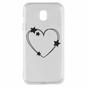 Samsung J3 2017 Case Heart with stars