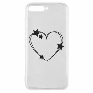 Huawei Y6 2018 Case Heart with stars