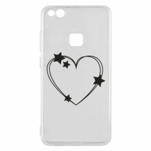 Huawei P10 Lite Case Heart with stars