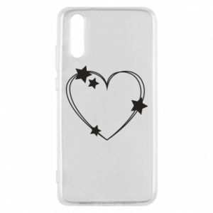 Huawei P20 Case Heart with stars