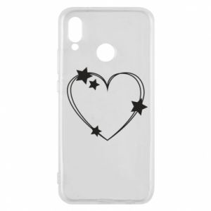 Huawei P20 Lite Case Heart with stars