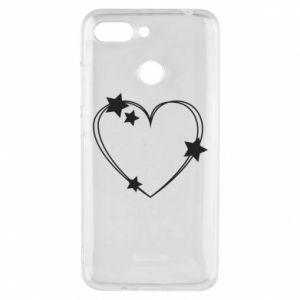 Xiaomi Redmi 6 Case Heart with stars
