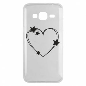 Samsung J3 2016 Case Heart with stars