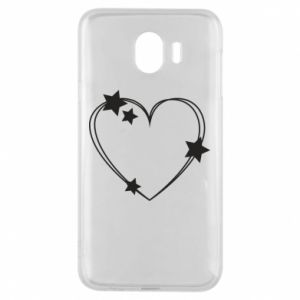 Samsung J4 Case Heart with stars