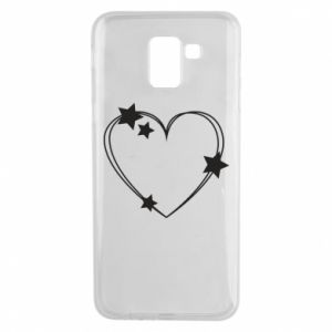 Samsung J6 Case Heart with stars