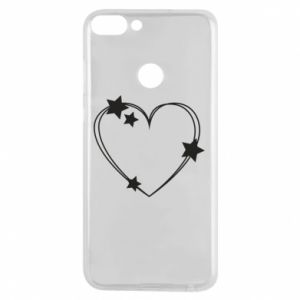 Huawei P Smart Case Heart with stars