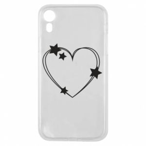 iPhone XR Case Heart with stars