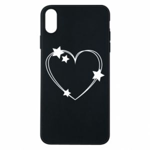 iPhone Xs Max Case Heart with stars
