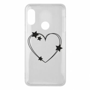 Mi A2 Lite Case Heart with stars