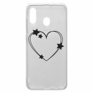 Samsung A30 Case Heart with stars